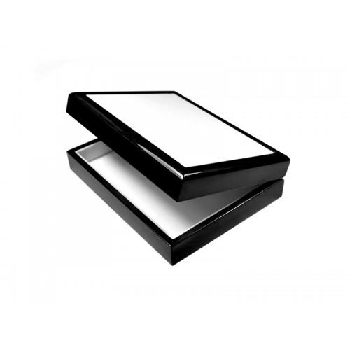 Шкатулка с керам. шильдой 15х20 черная