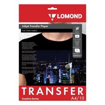 Бумага для струйного принтера для темных тканей Lomond (А4/10л) 0808421