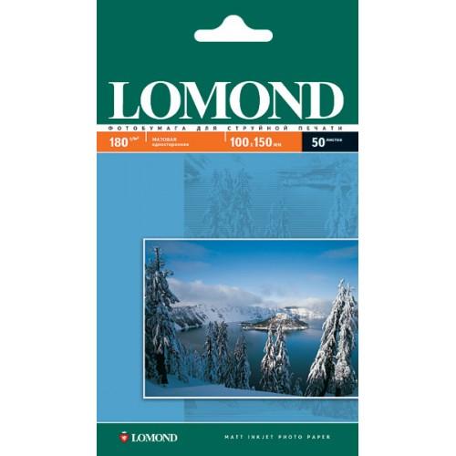 Бумага Lomond 10х15 односторонняя матовая  (180гр/А6/50л/МАТТ)