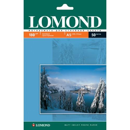 Бумага Lomond 21х14, 8 односторонняя (180гр/А5/50л) МАТТ
