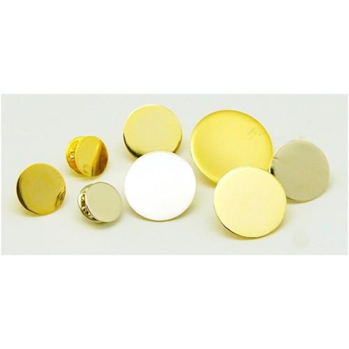 Заготовки металлических значков на цанге D-25 (200 шт)