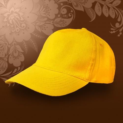 Бейсболка на металлической застежке, желтый
