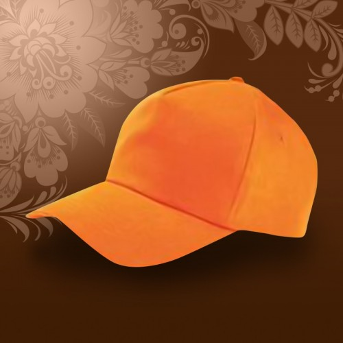 Бейсболка на металлической застежке, оранжевый