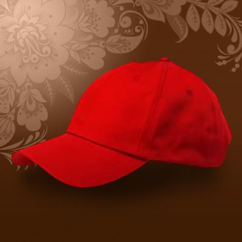 Бейсболка велюр, Красный