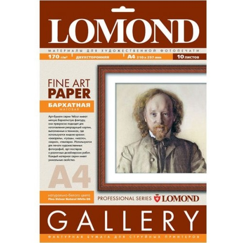 Арт бумага Lomond  0911041 «Велюр» (170гр/А4/10л)