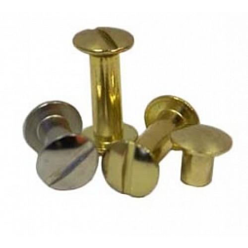 Винт металлический 7 мм, золото (1шт)