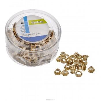 Люверсы d 4,8 мм, золото (200 шт)