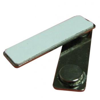 Магнитные крепления 43*13 для бейджей (металл)