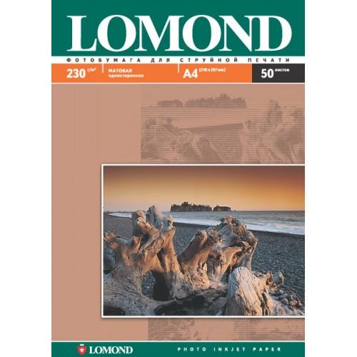 Бумага Lomond INC JET для струйной печати (230гр/А4/50л/МАТТ)  одност.