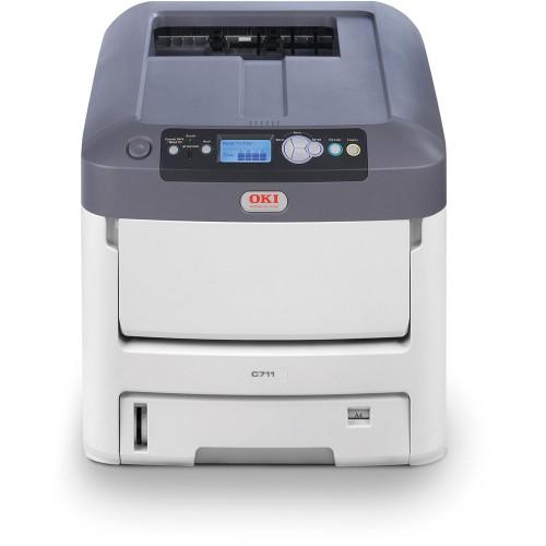 Принтер OKI C711WT с белым тонером