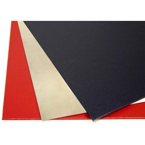 "Обложки МеталБинд картон А4 (304х212 мм) ""кожа"" красные O.hard Cover Mundial (10пар)"