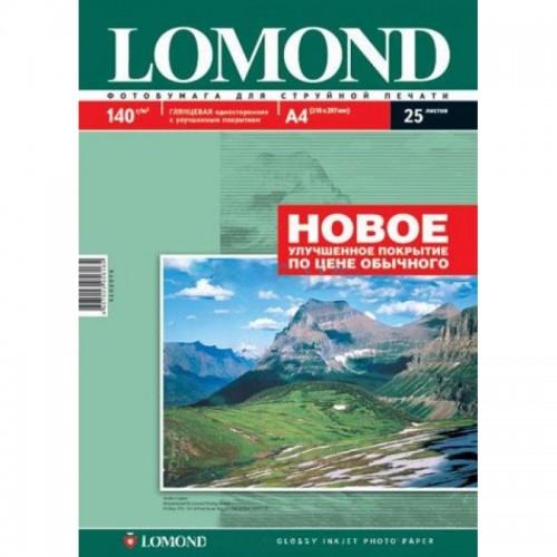 Бумага Lomond для струйной печати глянцевая одностороняя (140гр/А4/25л)