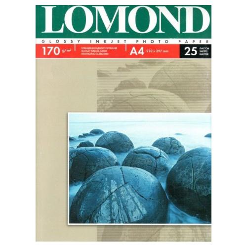 Бумага Lomond для струйной печати односторонняя глянцевая 170гр/А4/25л