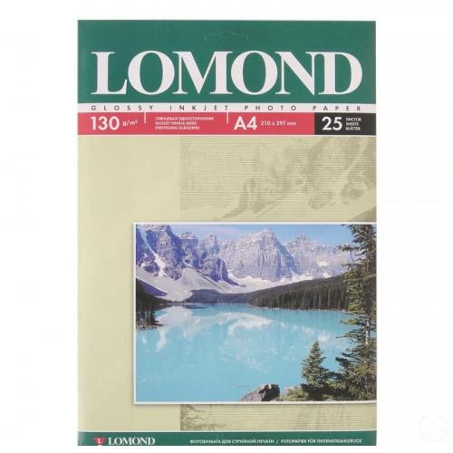 Бумага Lomond для струйной печати односторонняя глянцевая (130гр/А4/25л)