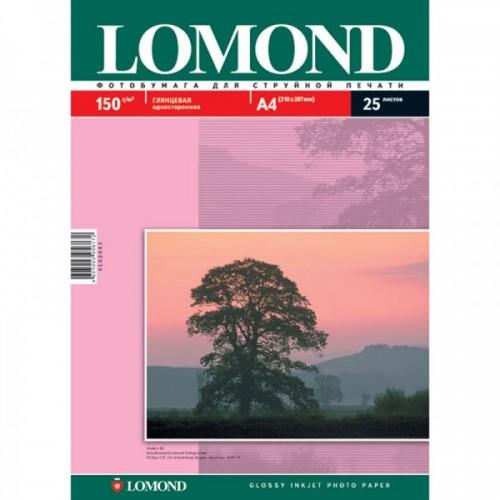 Бумага Lomond для струйной печати односторонняя глянцевая 150гр/А4/25л