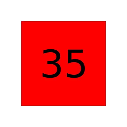Краска Marabu Marastar SR 035, Ярко красная (Bright Red)