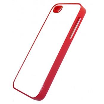 Чехол для iPhone 5, резиновый красный
