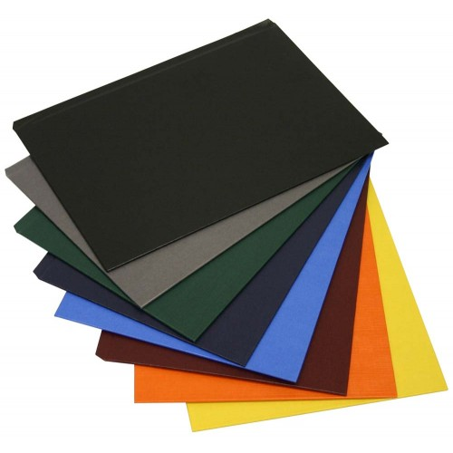 Обложки МеталБинд картон А5 (217х151 мм) серая O.hard Cover Gray (10пар)