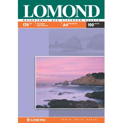 Бумага Lomond 0102006 двухсторонняя для струйной печати (170гр.,А4,100л,матовая)