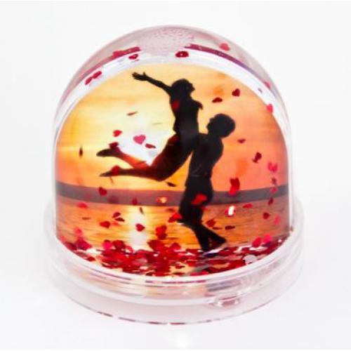Фотошар водяной сфера с хлопьями-сердечками