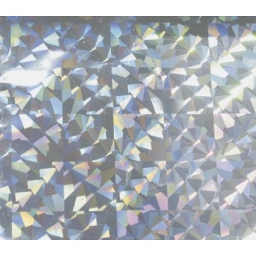 Фольга для ламинирования В04 голограмма серебряные призмы, 0.2 х 120м
