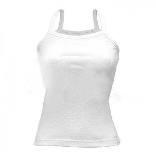 Топ женский для сублимации, ложная сетка, белая, размер 46(М)